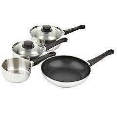 Tu Stainless Steel 4-piece Pan Set £6.60 instore @ Sainsburys