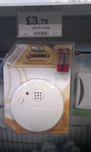 Smoke Alarm £3.79   ***instore*** @ Home Bargains