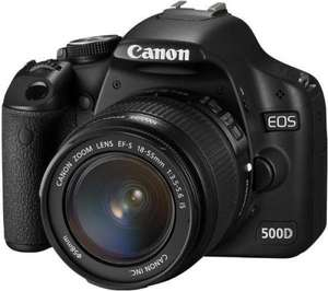 CANON EOS 500D Digital SLR Camera + EF-S 18-55 IS Zoom Lens £499.97 - 9% Code £474.97 @ Currys