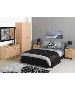 4 Piece Plaza Bedroom Furniture Package - Beech WAS £500 now £250 + £50 off with Discount Code FURNDISC @ Argos