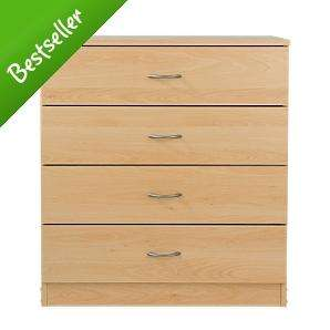 Chest of Drawers £29. Side Table £10, Bedside Table £15, PC Desk £14.99 & Bookcase £12.98 at Asda