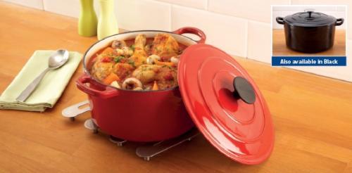 4litre Cast Iron Casserole Dish £24.99 Aldi instore