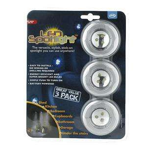 JML LED Spotlights - 3 Pack - Super-Bright Stick-On Lights - £5.99 Delivered @ 7 Day Shop
