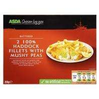 Asda chosen by you Battered 100% haddock fillets (2) with peas ONLY 50p @ Asda