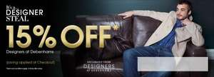 15% off Designer shoes at Debenhams (mens)