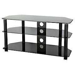 "S&C Black Glass TV Stand For TVs Up To 42"" - £49.99 *Reserve & Collect* @ Sainsburys"