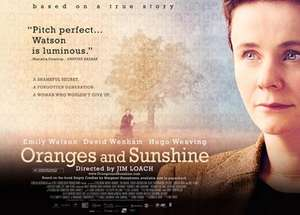 Free Screening of Oranges & Sunshine - Rated 15 - Sunday 27th March @ Show Film First