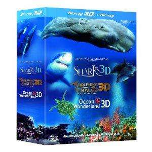 Jean-Michel Cousteau's Film Trilogy in 3D (Blu-ray Boxset) : (Dolphins & Whales/Sharks/Ocean Wonderland) £17.85 delivered @ Zavvi