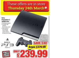 PS3 Slim Console: 320GB - £239.99 *Instore* @ Netto