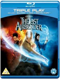 The Last Airbender: Triple Play (Includes Blu-Ray, DVD and Digital Copy) Blu-ray delivered at Zavvi for £9.95
