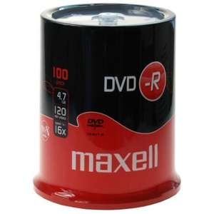 Maxell Blank DVD-R 16x - 100 Pack - £11.99 Delivered @ Play