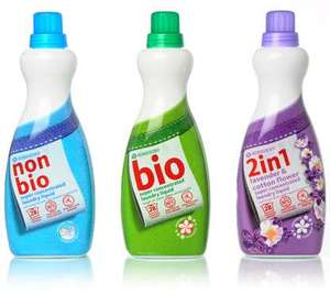 Morrisons Concentrated  2-in-1, non-bio, bio, colours - Laundry Liquid - 28 washes (980ml) for £1.40!! @ Morrisons