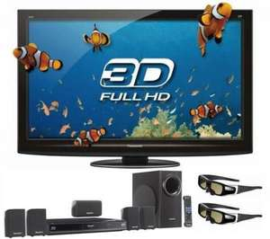 """Panasonic Viera TX-P42GT20B - 42"""" Full HD 3D Ready Plasma TV, Free 5.1Ch 3D Blu Ray Home Cinema System & 2 Pairs of 3D Glasses - £938.76 Delivered @ Currys"""