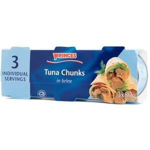 Princes Tuna Chunks In Brine - 3 Pack - £1 @ Poundland