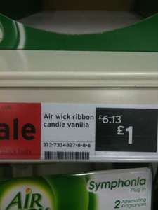 Airwick Ribbon Candles - Vanilla and Cashmere - £1 each @ Sainsburys