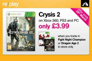 Crysis 2 Only £3.99 When You Trade In Either Fight Night Champion or Dragon Age 2 @ HMV