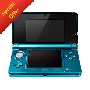 Nintendo 3DS Console - Aqua Blue or Cosmos Black - £187 *Delivered To Store* @ Asda Direct