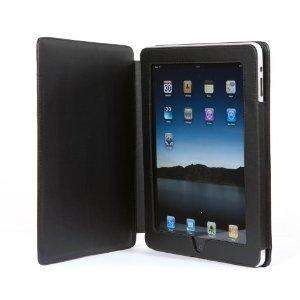 Black iPad 2 Leather Case & Screen Protector - £3.99 Delivered @ Amazon Sold By Easy Outlet