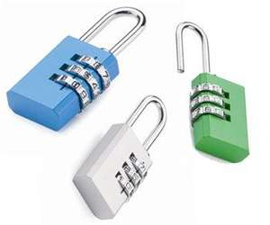 2 Travel Combination Padlocks - 99p *Instore* @ 99p Stores