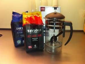 Buy two packets of Taylors ground coffee (£2.99 each) and get a free cafetière (RRP £15)@ Morrisons