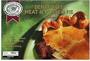 DENBY DALE MEAT & POTATO PIE 765g co-op stores £1