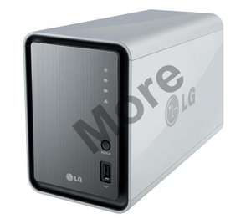 LG N2ADD2 NAS with 2TB (2 x 1000GB) Storage - £162.24 @ More Computers