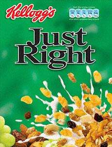 Kellogg's Just Right (500g) was £2.55 now £1.27 @ Sainsburys
