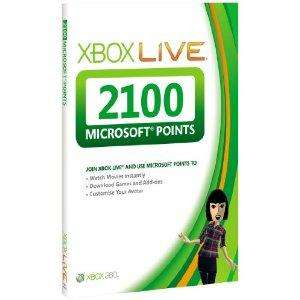 Xbox Live 2100 Points Card - £14.99 Delivered @ Amazon