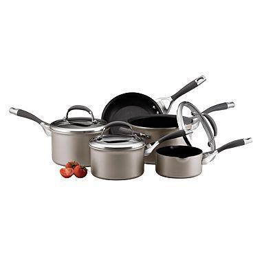 Light grey 5 piece Circulon Elite 'Platinum' pan set - Now £78 (free delivery) at Debenhams