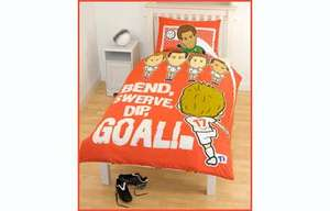 Tiny Idol Bend, Swerve, Dip, Goal Duvet and Pillowcase Set - £4.00 Click & Collect @ The Entertainer