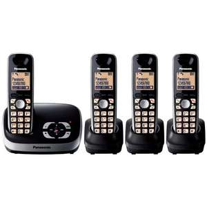 Panasonic KX-TG6524EB DECT Quad Digital Cordless Phone Set with Answer Machine - Black - £52.50 Delivered @ Amazon UK