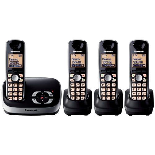 Panasonic KX-TG6524EB DECT Quad Digital Cordless Phone Set with Answer Machine - Black - £52.50 Delivered @ Amazon UK