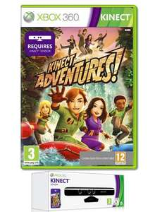 Xbox 360 Kinect Sensor & Kinect Adventures (Pre-owned) - £74.99 (with code) @ Game