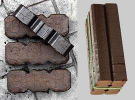 Pallet-Wrapped Peat Briquettes - 1.05 tonne pallet £310 includes UK delivery from Fergusson