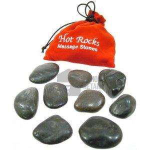 Hot Rocks Heat Therapy Massage Stones Set In Velvety Drawstring Pouch - £4.99 @ Amazon