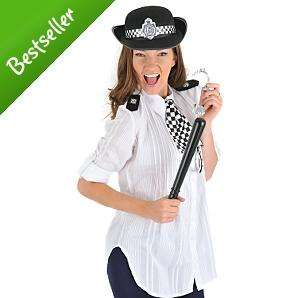 Policewoman Set with Hat, Scarf, Epaulettes, Truncheon & Cuffs - £5 @ Asda Direct