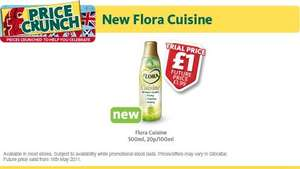 Flora Cuisine £1 for 100ml at Morrisons Trial Price