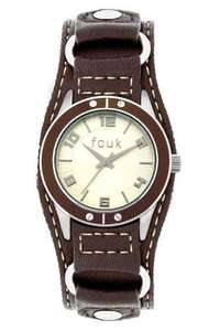 French Connection Ladies Watch With Tan Leather Strap - Was £55 Now £16.32 @ Amazon