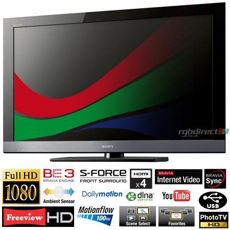 """Sony KDL46EX503U - 46"""" Full HD 1080p Wi-Fi Ready LCD TV - £649 @ RGB Direct (Instore)"""