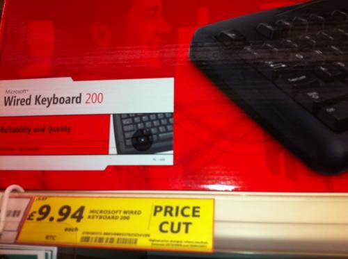 Microsoft Wired Keyboard 200 - £4.97 Instore @ Tesco