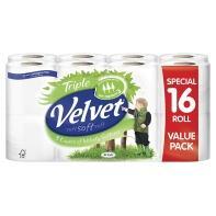 Triple Velvet Toilet Roll 16 rolls for £5.00 at asda
