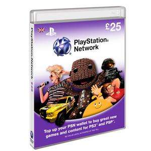 £25 Playstation Network PSN Card (PS3) - £19.99 Delivered @ 7 Day Shop