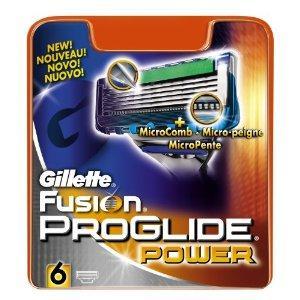 Gillette Fusion ProGlide Power Razor Blades 6-Pack £13.99 @ Amazon