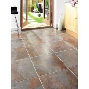 Cavan Slate Effect Porcelain Tile £12.80 @ Wickes was £25.61