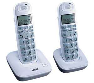 LOGIK L20DBIG10 Digital Cordless Telephone - Twin Pack £19.99 @ CURRYS