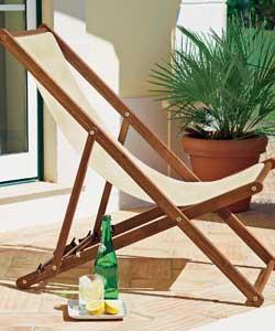 2 X Solid Hardwood Garden Deck Chair £45 @ Argos