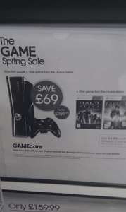 Xbox 360 Console: 250GB  + Halo Reach OR Fable III - £159.99 @ Game (Instore)