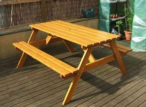 Argos Value Range Natural Pine A-Type Picnic Bench - £39.99 @ Argos