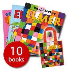 Elmer Picture Book Collection - 10 Books in a Bag £9.99 @ The Book People