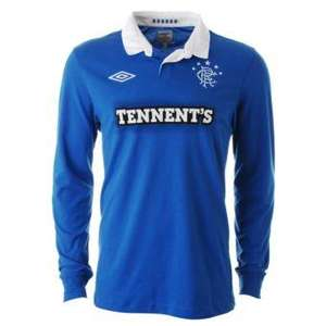 Adult Rangers Home and Away Shirts - £8 or £7.20 (with 10% code) @ JJB Sports